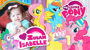 My Little Pony Pequeno Pony Video Invitacion Digital Youtube