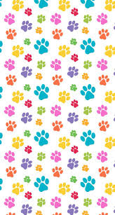 colorful paw prints iphone wallpaper