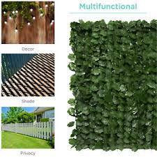 Ivy Hedge Privacy Fence Backyard Pool Deck Patio Artificial Leaf Screen Panels Ebay