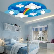 Remote Control 6 Lights Rainbow Flushmount Modernism Nursing Room Kindergarten Metal Ceiling Light In Blue Susuohome Com