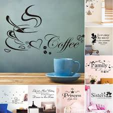 Diy Wall Sticker Removable Wall Decals Coffee Cup Kitchen Restaurant Vinyl Home Decor Wall Stickers Buy At A Low Prices On Joom E Commerce Platform