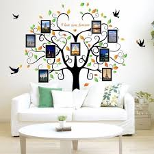 Shop Family Tree Wall Decal 9 Large Photo Pictures Frames 35x12 Wall Vinyl Overstock 18264726
