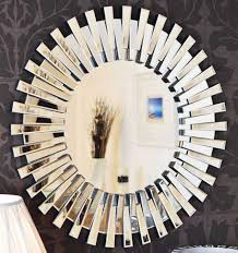 glass venetian round wall mirror