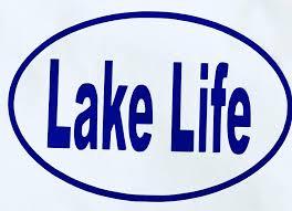 Amazon Com Custom Lake Life Vinyl Decal Lake Bumper Sticker For Coolers Boats Laptops Car Windows Oval Text Design Handmade