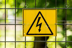 Danger High Voltage Electric Fence Warning Sign Stock Photo Picture And Royalty Free Image Image 29827880