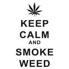 Hot Discount 4bb4c 8 1x14 2cm Keep Calm And Smoke Weed Funny Vinyl Decal Car Sticker Car Styling S8 0623 Cicig Co