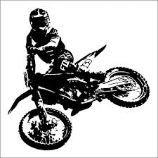 Amazon Com A Top Decals Motocross Ktm Dirt Bike Vinyl Decal Mural Sticker Custom Color 15x15 Home Kitchen
