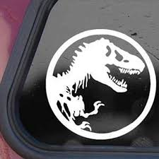 Amazon Com Jurassic Park White Sticker Decal T Rex Dinosaur Tyrannosaur White Car Window Wall Macbook Notebook Laptop Sticker Decal Home Kitchen