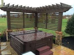Arbor Screen For Hot Tub Contemporary Patio Columbus By Pony Lawncare And Landscaping