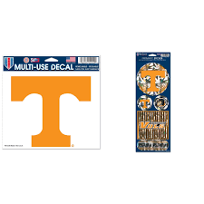 Tennessee Volunteers Official Ncaa Car Window Cling Decal And Automotive Car Decal 4 X11 5 Bundle 2 Items Walmart Com Walmart Com