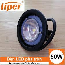 Đèn LED pha hình tròn 50W chống nước IP65 ánh sáng vàng LIPER LPFL-50CY01-W  - Bigi shop