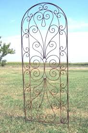 wrought iron heart garden flower trellis