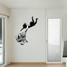 Shop Banksy Fall Shopping Cart Vinyl Wall Art Decal Sticker Overstock 12861249