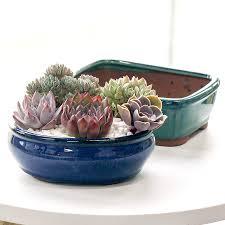 square garden pots ceramic flower pot