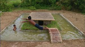 two guys build an amazing swimming pool