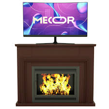 unit console fireplace mantel surround