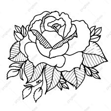 أبيض وأسود الزهور Png الصور ناقل و Psd الملفات تحميل مجاني على