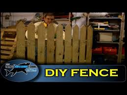 How To Build A Fence Using Pallet Wood Cheap Simple Easy Youtube