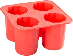 shot glass ice mold silicone tray
