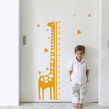 Growth Chart Sticker Giraffe Gerome Height Chart Wall Sticker Ruler Vinyl Decal Nursery Decor Kids Room Decor Modern Decal