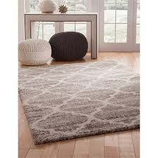 trellis ivory tan brown 8x10 area rug