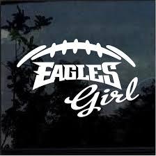Philadelphia Eagles Girl Window Decal Sticker Custom Sticker Shop