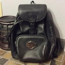 harley davidson leather backpack