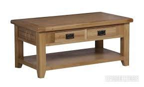 riverland solid oak coffee table with 2