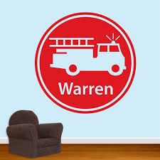 Firefighter Wall Decal Personalized Name Wall Decal Fireman Decor Name Stickers Fireman Decal Fireman Birthday Firefighter Decal Db143 Vinyl Wall Decals Wall Decals Personalized Wall Decals