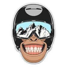 Snowboard Monkey 3 Vinyl Sticker For Car Laptop I Pad Phone Helmet Hard Hat Waterproof Decal Walmart Com Walmart Com