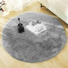 Fluffy Round Rug Carpets For Living Room Decor Faux Fur Rugs Kids Room Long Plush Rugs For Bedroom Shaggy Area Rug Modern Mats Commercial Grade Carpet Shaw Carpeting From Lufebut 22 5 Dhgate Com