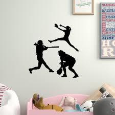 Harriet Bee Softball Girls 3 Piece Set Wall Decal Wayfair