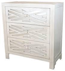 28 lattice 3 drawer mirror chest