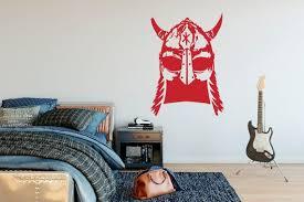 Viking Helmet Wall Decal Notebook Hand Drawn Vinyl Sticker Etsy In 2020 Wall Decals Game Room Decor Vinyl Sticker