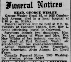 Obituary for George Wesley WESLEY (Aged 86) - Newspapers.com