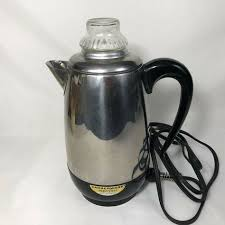 coffee pot 2 to 8 cup vtg percolator