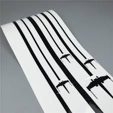 1pcs Auto Hood Side Stripes Rear Window Or Car Door Decor Sticker Rogue Squadron X Wing Star Wars Styling Vinyl Decals Car Stickers Aliexpress
