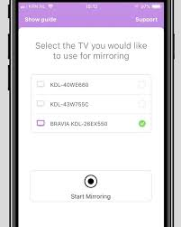 mirror your iphone or ipad on a sony tv