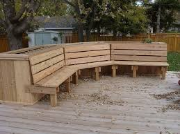 box planter bench deck bench plans