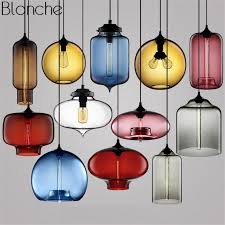 modern stained glass led pendant lights