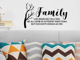 Family Like Branches On A Tree Living Room Wall Decal Story Of Home Decals