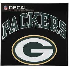 Green Bay Packers 12 X 9 Arched Logo Decal Nfl 1 Free Window Decal Ebay