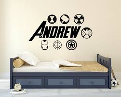 The Avengers Super Hero Boys Kids Bedroom Art Wall Sticker Decal Wallpaper Mural For Sale Online Ebay