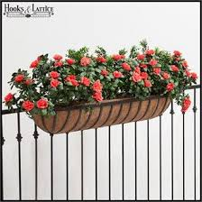Make Your Next Deck Rail Planter A Hayrack Trough Coco Lined Iron Garden Containers Look Exquisite Deck Railing Planters Railing Planters Garden Wall Planter