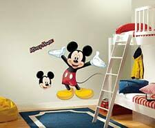 Disney Mickey Mouse Giant Vinyl Wall Decal Mural Room Decor For Sale Online Ebay