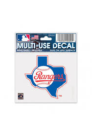Texas Rangers 3x4 Multi Use Cooperstown Auto Decal Blue 5715817