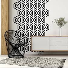 Amazon Com Mid Century Decals Hexagon Wall Decal Honeycomb Wall Decal Geometric Wall Decal Modern Wall Decor Retro Wall Decal Bee Hive Wall Pattern Modern Nursery Handmade