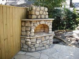 backyard outdoor fireplace plans