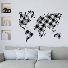 World Map Wall Decal Globe Wall Decal Map Of World Compass Vinyl Decal Sticker Bedroom Decals Wl772 Wall Stickers Aliexpress
