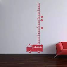 Yoyoyu Art Home Decor Fire Engine Fire Truck Growth Chart Wall Decal Vinyl Sticker For Kids Boys Room Nursery Decoration Ww 495 Stickers For Vinyl Stickersgrowth Chart Aliexpress